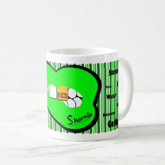 Sharnia's Lips Sri Lanka Mug (GREEN Lip)