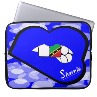 "Sharnia's Lips St Kitts Laptop Sleeve 15"" Blue Lip"