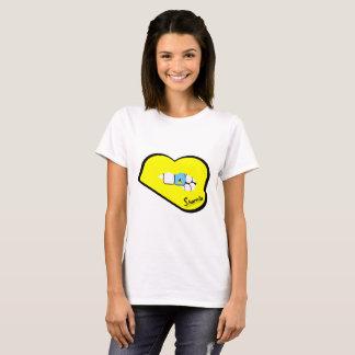 Sharnia's Lips St Lucia T-Shirt (Yellow Lips)