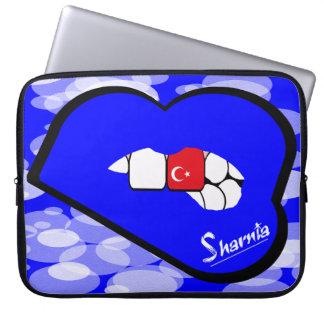 "Sharnia's Lips Turkey Laptop Sleeve 15"" Blue Lips"