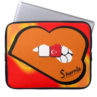 Sharnia's Lips Turkey Laptop Sleeve (Orange Lips)