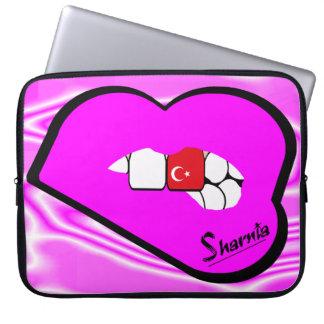 Sharnia's Lips Turkey Laptop Sleeve (Pink Lips)