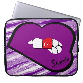 Sharnia's Lips Turkey Laptop Sleeve (Purple Lips)