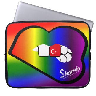 Sharnia's Lips Turkey Laptop Sleeve (Rainbow Lips)