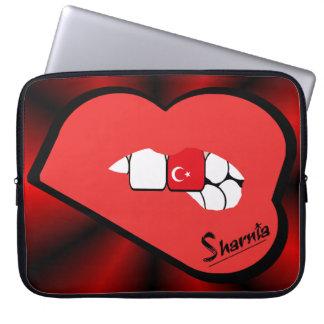 Sharnia's Lips Turkey Laptop Sleeve (Red Lips)