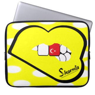 Sharnia's Lips Turkey Laptop Sleeve (Yell Lips)