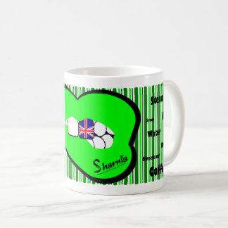 Sharnia's Lips UK Mug (GREEN Lip)