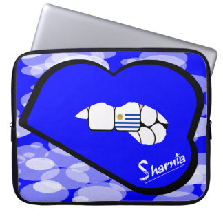 "Sharnia's Lips Uruguay Laptop Sleeve 15"" Blue Lips"