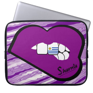 Sharnia's Lips Uruguay Laptop Sleeve (Purple Lips)