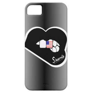Sharnia's Lips USA Mobile Phone Case (Blk Lips)