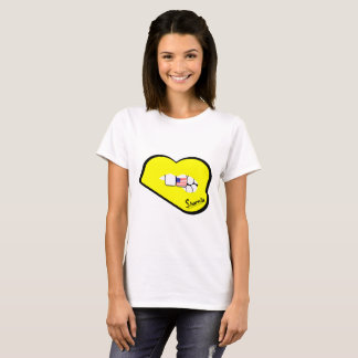Sharnia's Lips USA T-Shirt (Yellow Lips)