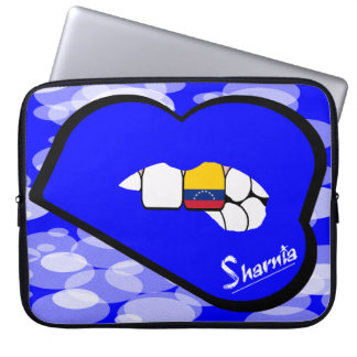 "Sharnia's Lips Venezuela Laptop Sleeve 15"" BlLi"