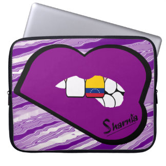Sharnia's Lips Venezuela Laptop Sleeve Purple Lip