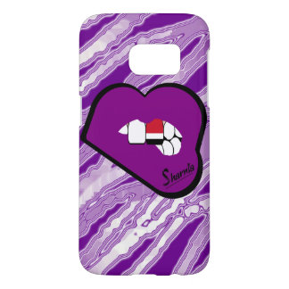 Sharnia's Lips Yemen Mobile Phone Case (Pu Lips)