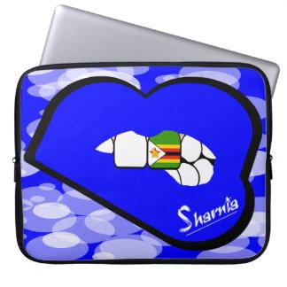 "Sharnia's Lips Zimbabwe Laptop Sleeve 15"" Blue Lip"