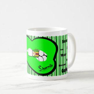 Sharnia's Lips Zimbabwe Mug (GREEN Lip)