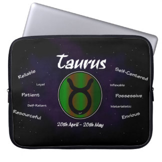"Sharnia's Taurus Neoprene Laptop Sleeve 15"""