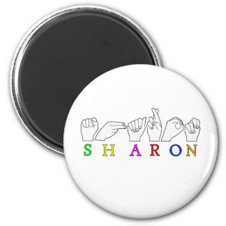 SHARON  ASL FINGERSPELLED NAME SIGN MAGNET
