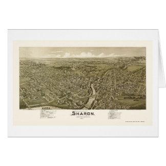 Sharon, PA Panoramic Map - 1901 Card