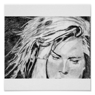 Sharon Stone charcoal Poster