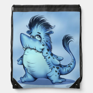SHARP ALIEN MONSTER CARTOON Drawstring Backpack