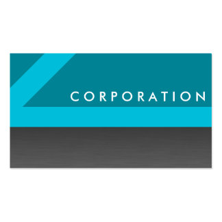 Sharp angled turquoise professional business cards