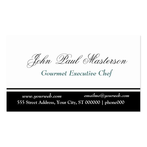 Sharp Black and White Design Business Cards