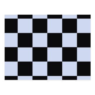 Sharp checkerboard postcard