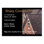 Sharp Construction - Brown and Black Pack Of Chubby Business Cards