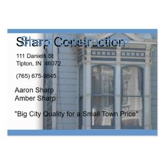 Sharp Construction Business Card