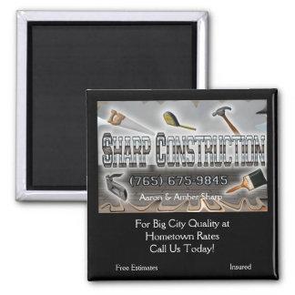 Sharp Construction Square Magnet