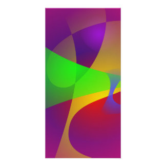 Sharp Contrast Vivid Color Abstract Photo Card