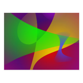 Sharp Contrast Vivid Color Abstract Postcard