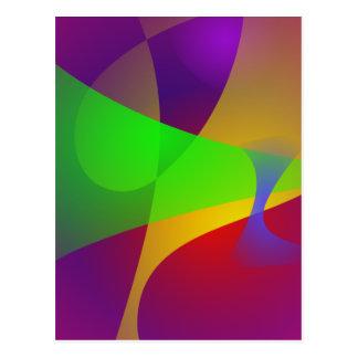 Sharp Contrast Vivid Color Abstract Postcard