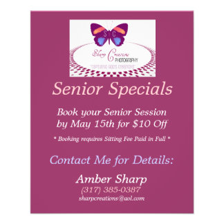 Sharp Creations Senior Specials Flyer