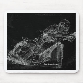 sharp designs. speedway bikeonblack mouse pad