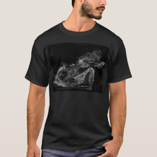 sharp designs. speedway bikeonblack T-Shirt