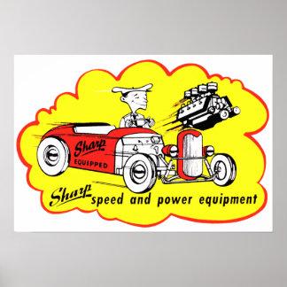 Sharp Equipment Vintage Hot Rod Logo Poster