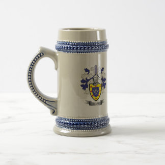 Sharp Family Crest Coat of Arms Beer Stein