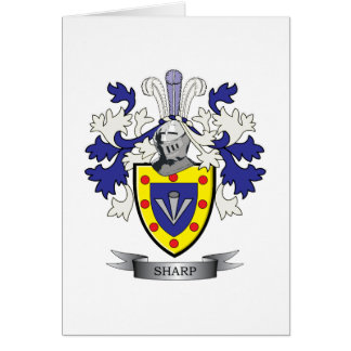 Sharp Family Crest Coat of Arms Card