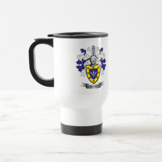Sharp Family Crest Coat of Arms Travel Mug