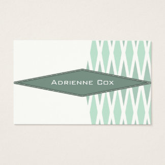 "Sharp Green Geometric 3.54"" x 2.165"" Business Card"