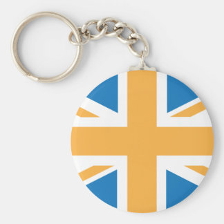 Sharpe Blue Orange Union Jack British(UK) Flag Keychains