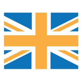Sharpe Blue Orange Union Jack British(UK) Flag Postcard