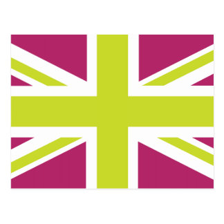 Sharpe Purple Union Jack British(UK) Flag Postcard
