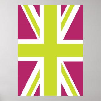 Sharpe Purple Union Jack British(UK) Flag Poster