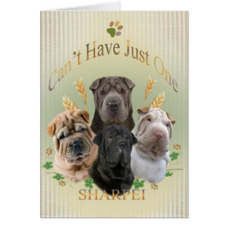 Sharpei Can't Have Just One Cards