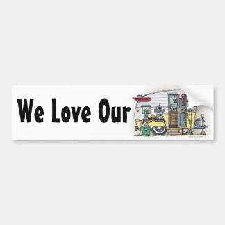 Shasta Camper Trailer RV Bumper Stickers