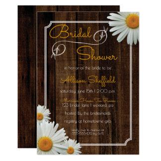 Shasta Daisies Rustic Floral Bridal Shower Invites