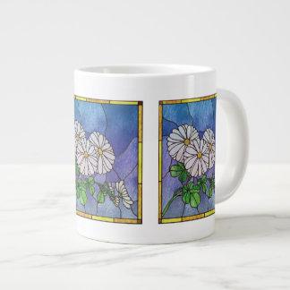 Shasta Daisies Stained Glass Look Jumbo Mug